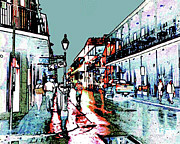 Surreal Reality Prints - Bourbon Street After the Rain  SURREAL REALITY Print by Merton Allen