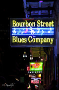 French Signs Art - Bourbon Street Blues by Cheri Randolph