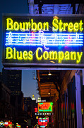 French Signs Photos - Bourbon Street Blues Company by Inge Johnsson