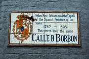 French Quarter Framed Prints - Bourbon Street Historic Plaque French Quarter New Orleans Poster Edges Digital Art Framed Print by Shawn OBrien