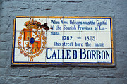 Bourbon Street Posters - Bourbon Street Historic Plaque French Quarter New Orleans Poster by Shawn OBrien