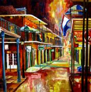 Bourbon Street Lights Print by Diane Millsap