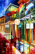 New Signs Prints - Bourbon Street Neon Print by Diane Millsap