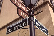 New Orleans Art Posters - Bourbon Street New Orleans Poster by Peter Art Prints Posters Gallery
