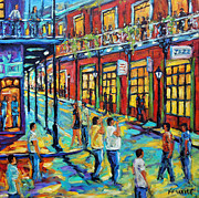 Canada Paintings - Bourbon Street New Orleans by Prankearts by Richard T Pranke