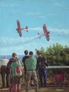 Spectators Painting Posters - Bournemouth air festival Poster by Martin Davey