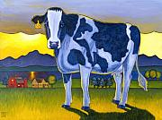 Art For Children Prints - Bovine Whidbey Print by Stacey Neumiller