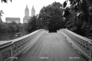 Iron Bridge Prints - Bow Bridge Central Park NY Print by Christopher Kirby