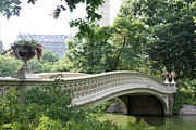 Skyscapers Prints - Bow Bridge NYC - Old Beauty  Print by Christiane Schulze