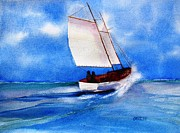 Nautical Paintings - Bow Spray by Carlin Blahnik
