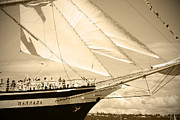 South Puget Sound Posters - Bow Sprit Of Tall Ship Poster by Kym Backland