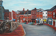 Brick Paintings - Bow Street by Kristin St Hilaire