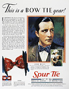 Tie Prints - Bow Tie Advertisement, 1930 Print by Granger
