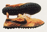 Nike Metal Prints - Bowermans Waffle Sole Design Metal Print by Photo Researchers