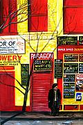 Store Fronts Painting Metal Prints - Bowery Metal Print by Leonardo Ruggieri