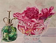 Glass Bowl Posters - Bowl Full of Spring Poster by Jenny Armitage