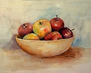 Apple Framed Prints - Bowl Of Apples Framed Print by Arline Wagner