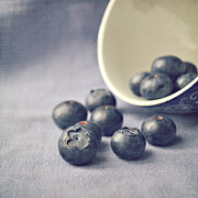 Featured Digital Art Posters - Bowl of Blueberries Poster by Lyn Randle