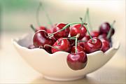 Bowl Of Cherries Print by Photo Hélène