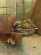 Splashy Mixed Media Originals - Bowl of Fruit by M Allison