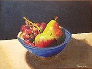 Tom Faires Paintings - Bowl of Fruit No.1 Balance by Thomas Faires