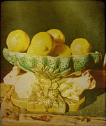 Lemons Framed Prints - Bowl Of Lemons Framed Print by Jan Amiss Photography