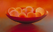 Bowl Of Peaches Posters - Bowl of Peaches Poster by Jennifer Speigle