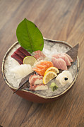 Sushi Posters - Bowl Of Seafood On Ice Poster by Cultura Travel/Tim E White