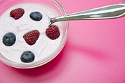 Raspberry Photo Originals - Bowl with jogurt by Einar Muoni