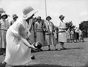 Cloche Hat Photos - Bowling To Win by Fox Photos