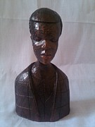 Hard Sculptures - Box Head - Half Body by Jolaosho Ajibola