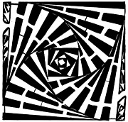 Twisting Mixed Media Prints - Box in a box maze Print by Yonatan Frimer Maze Artist
