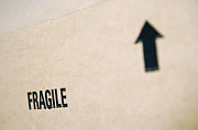 Breakable Posters - Box Marked Fragile Poster by Shannon Fagan