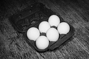 Dozen Photos - Box Of Half Dozen White Organic Fresh Eggs by Joe Fox