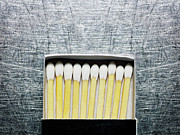 Large Group Of Objects Art - Box Of Wooden Matches On Stainless Steel. by Ballyscanlon