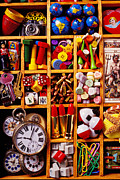Watches Framed Prints - Box With Compartments Framed Print by Garry Gay