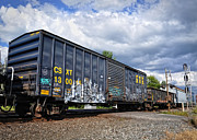 Boxcar Posters - Boxcar Graffiti Poster by Pamela Baker