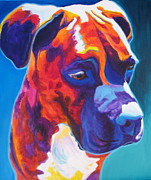 Boxer Puppy Painting Framed Prints - Boxer - Jax Framed Print by Alicia VanNoy Call