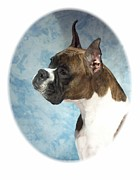 Boxer Digital Art Metal Prints - Boxer 816 Metal Print by Larry Matthews