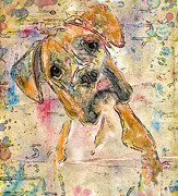 Marilyn Sholin Prints - Boxer Babe Print by Marilyn Sholin