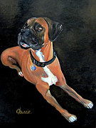 Boxer Painting Prints - Boxer Print by Chrissie Leander