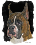 Akc Framed Prints - Boxer Framed Print by Larry Linton
