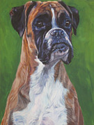 Boxer Portrait Paintings - Boxer by Lee Ann Shepard