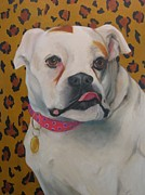 Boxer Painting Prints - Boxer Print by Robin Wellner