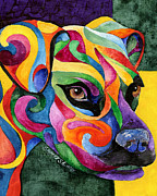 Boxer Painting Framed Prints - Boxer Framed Print by Sherry Shipley