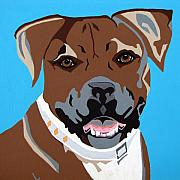 Boxer Dog Paintings - Boxer by Slade Roberts