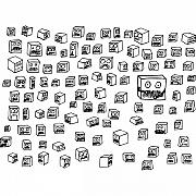 Cartoon Drawings - Boxes by Karl Addison