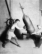 Punching Prints - Boxing: Bat Nelson, 1920 Print by Granger