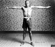 Boxer Photos - Boxing. Boxer Tut Jackson, Ca. 1922 by Everett