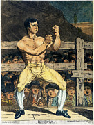 Boxing Framed Prints - BOXING CHAMPION, 1790s Framed Print by Granger